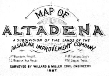 ORIGINAL COMMUNITY PLAN OF ALTADENA